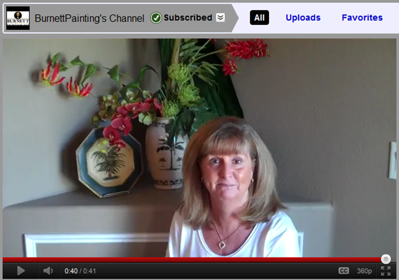 Kerry Gives Burnett Painting Testimonial