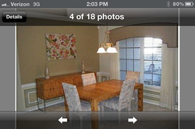 Venice, Florida Repaint Dining Room Before Picture