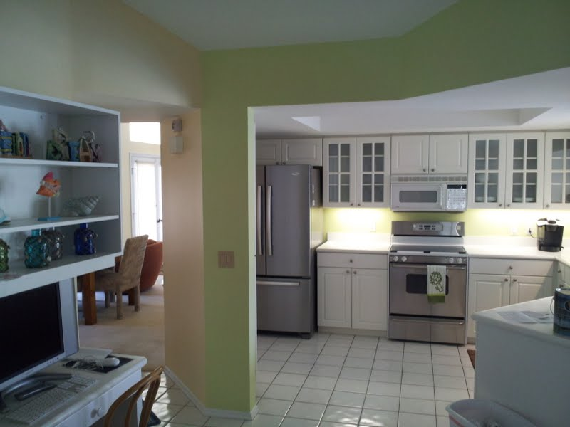 Venice, Florida kitchen repaint after picture