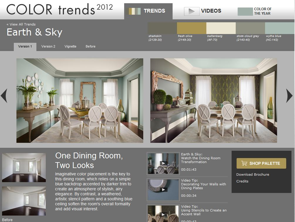 Earth and Sky- Benjamin Moore Color Trends of 2012