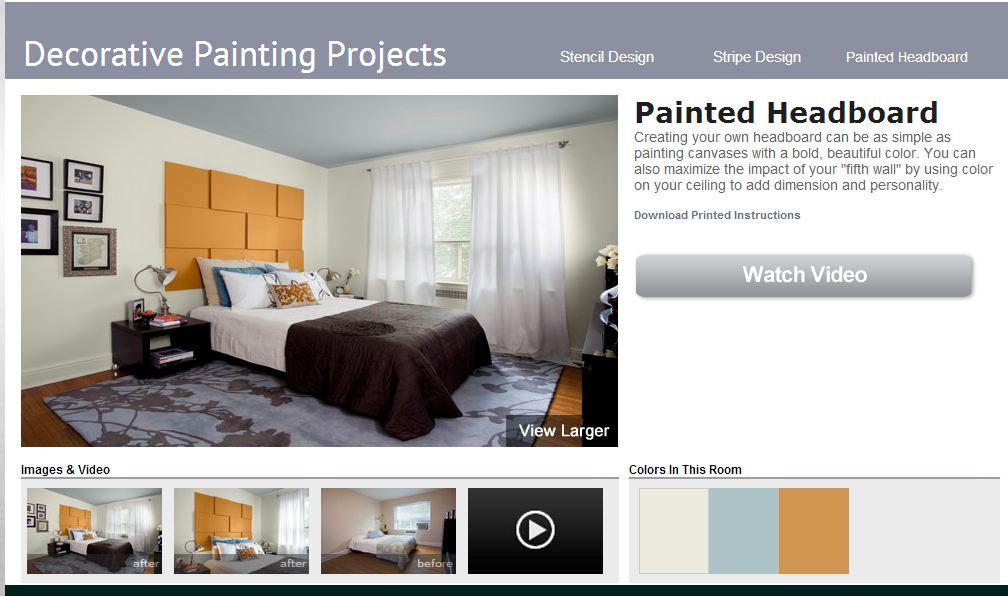 interior painting ideas painted headboard by benjamin moore burnett. Black Bedroom Furniture Sets. Home Design Ideas