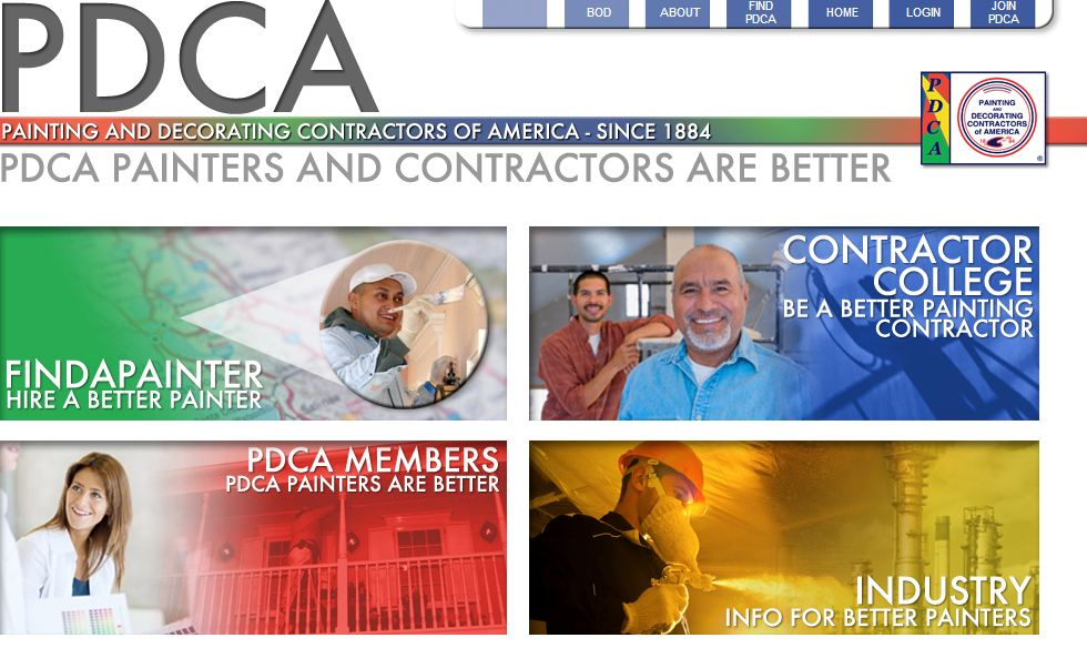hiring a painting contractor - look to the PDCA