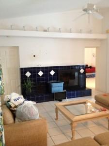 Venice, Florida Living room repaint before photo