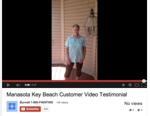 Painter Manasota Key Beach Video Testimonial