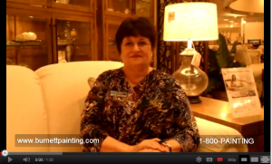 Carol from Port Charlotte Florida Gives Burnett Painting Testimonial