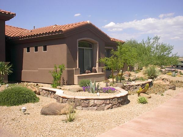 exterior repaint matches desert landscape