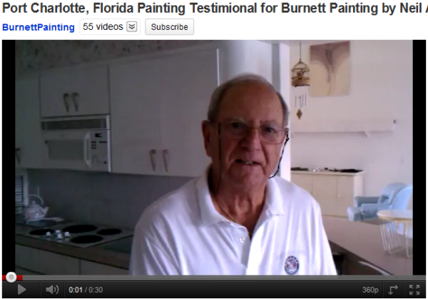 Port Charlotte painting testimonial for Burnett Painting