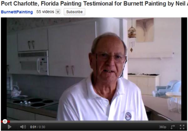 Port Charlotte painting testimonial for Burnett Painting