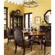 color enhances dining room