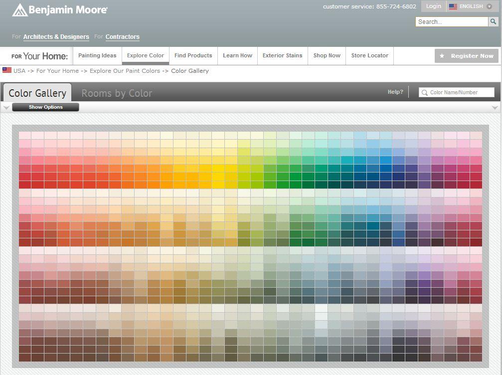 Benjamin Moore Color Selector