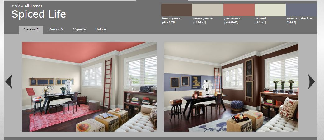 Interior Repaint: Spiced Life Color Trend 2012