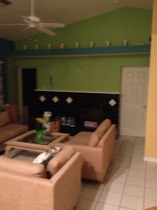 Venice, Florida living room repaint after photo