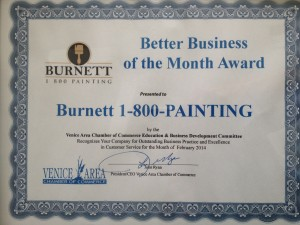 hire a painting contractor who has won VACC Business of the Month